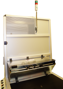 The LaserTower DrillMaster™ is a custom fiber laser marking and laser engraving machine built to mark multiple drill bits at a high rate.